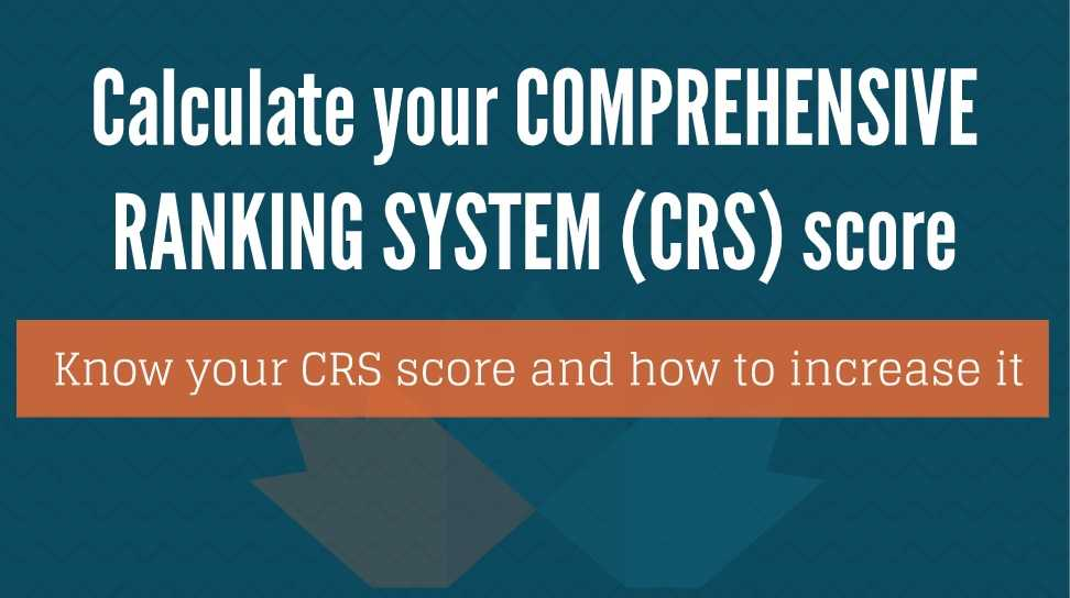 Calculate your Comprehensive Ranking System (CRS) score - Somerset